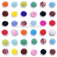 1000 Pcs 2mm Czech Glass Pearl Seed Loose Spacer Beads Jewelry Making DIY 2mm