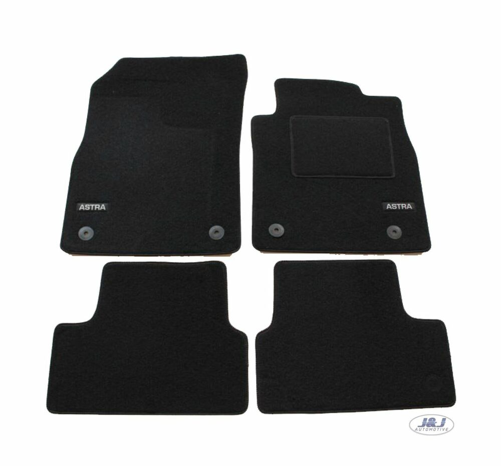 lukop009 tailored black floor car mats with logo vauxhall. Black Bedroom Furniture Sets. Home Design Ideas