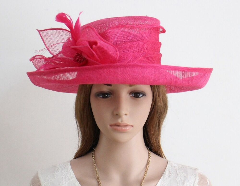 New woman church kentucky derby wedding party sinamay for Dress hats for weddings