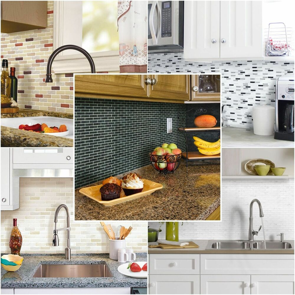 Wallpaper Tiles For Kitchen: Home Decor 3D Wall Stickers Brick Wallpaper Tile For