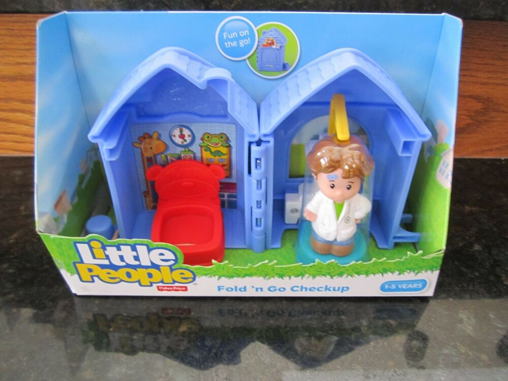 Fisher Price Little People Bakery New Fold Go Checkup