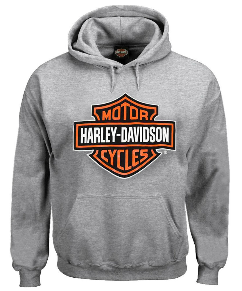 harley davidson men 39 s pullover sweatshirt bar shield. Black Bedroom Furniture Sets. Home Design Ideas