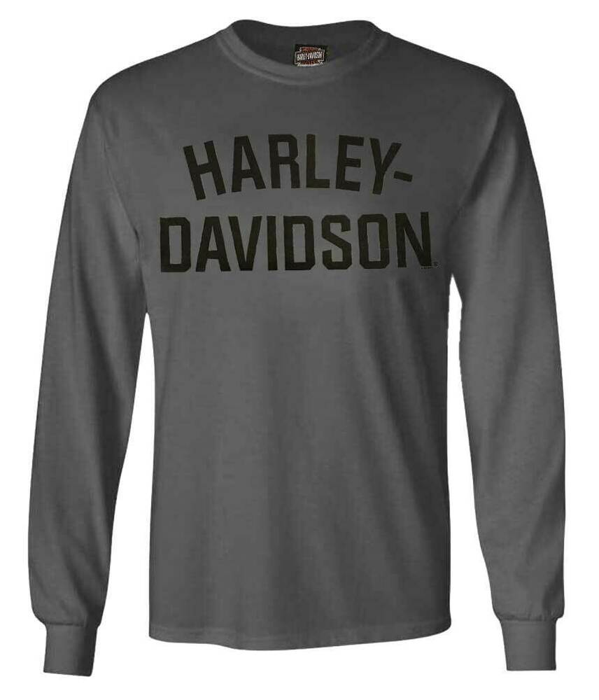 harley davidson men 39 s t shirt heritage h d long sleeve. Black Bedroom Furniture Sets. Home Design Ideas