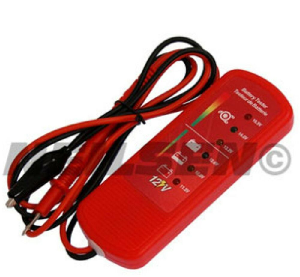 Car Battery System : Car battery alternator tester led vehicle charging