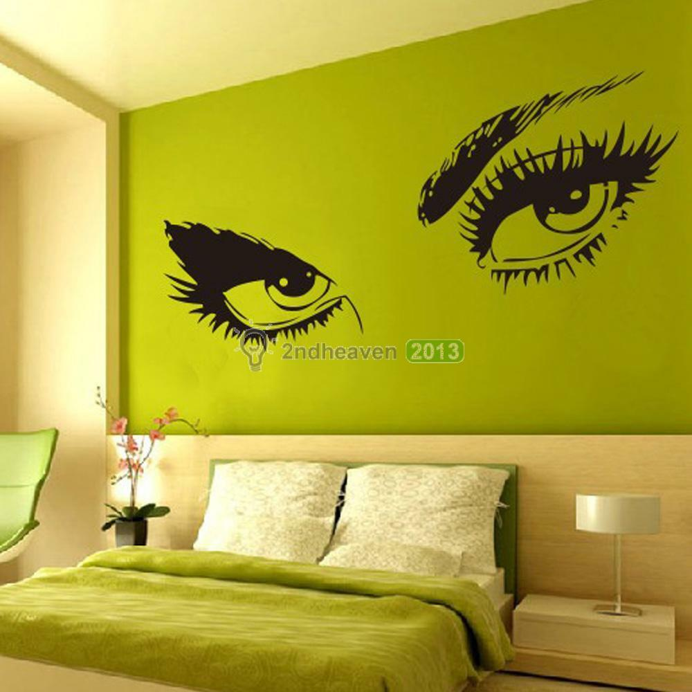 Home Art Decor Wall Decals ~ Sexy eyes wall sticker decals diy home decor mural