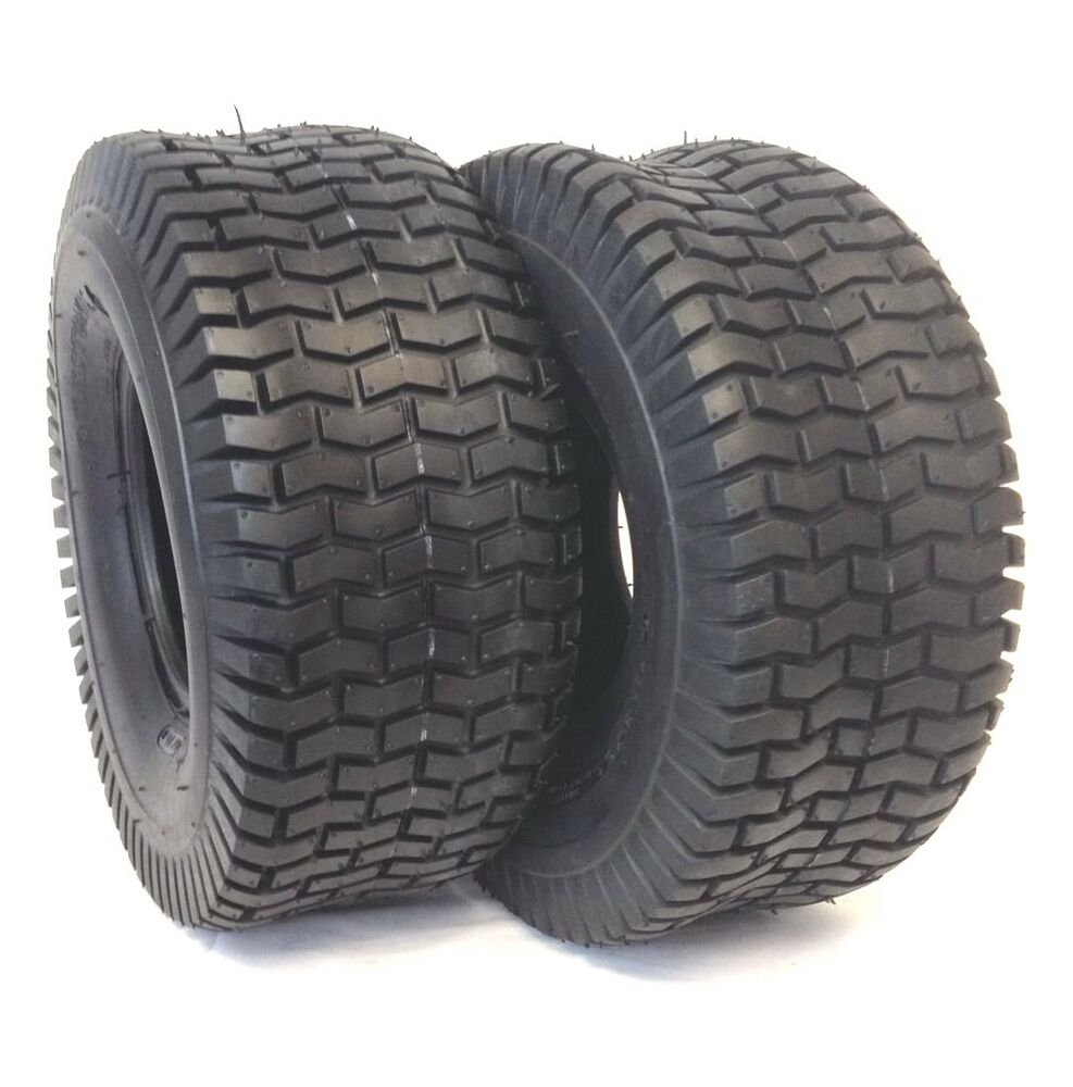 2 15x6 6 nhs turf lawn mower tires heavy duty 4 pr two new tire 15 6 15x6x6 ebay. Black Bedroom Furniture Sets. Home Design Ideas