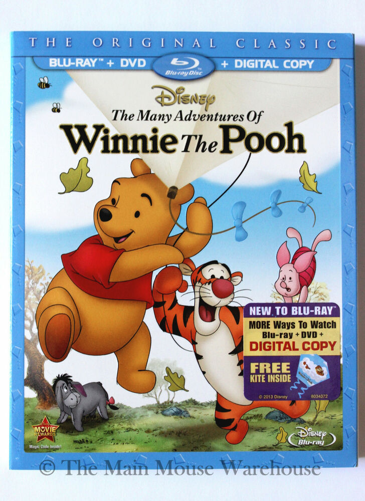 Disney Classic The Many Adventures of Winnie The Pooh Blu ...
