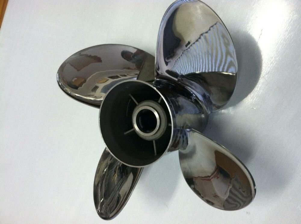 Stainless Steel Prop : Four blade stainless steel propeller prop yamaha