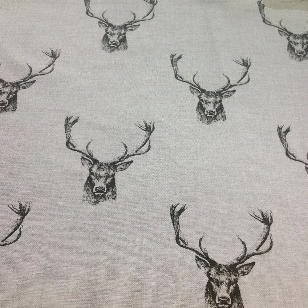 Fryetts Cotton Stags Fabric For Curtain Upholstery Crafts
