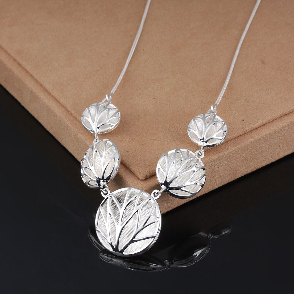 925 sterling silver filled tree of charm pendant