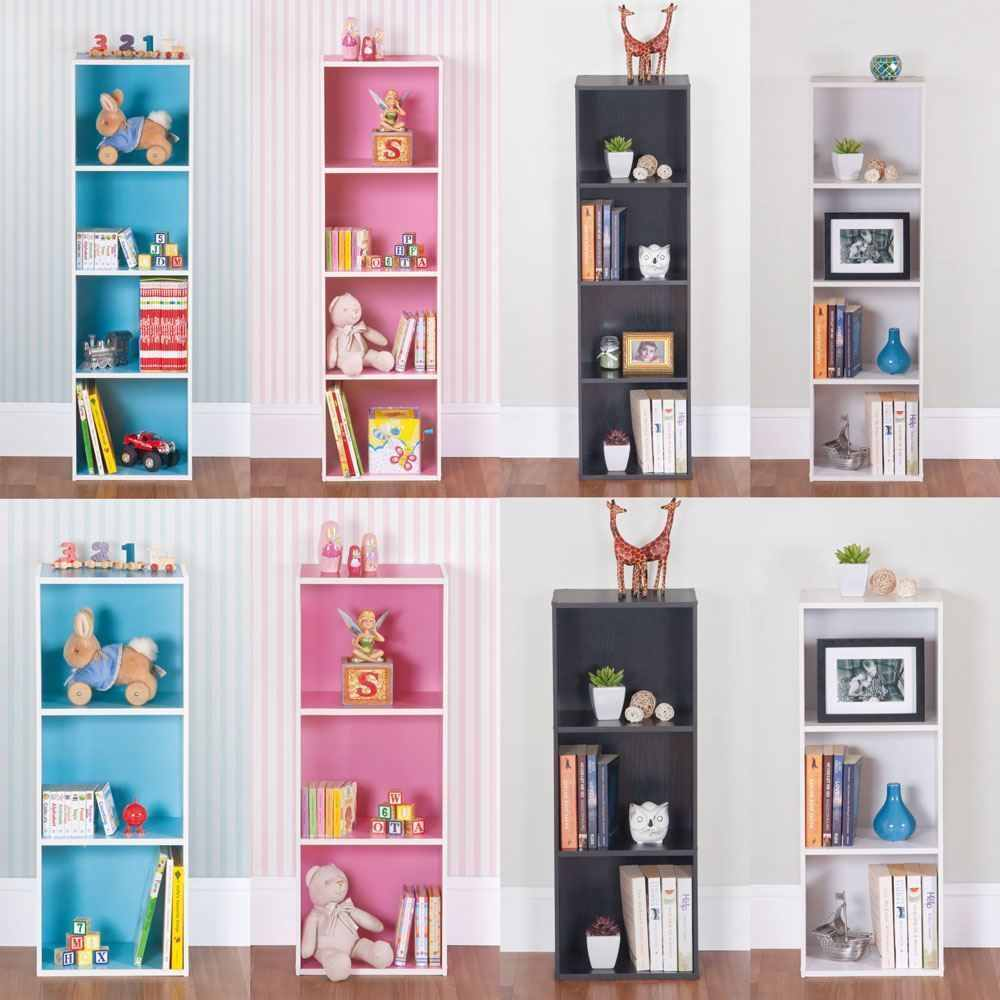 wooden 1 3 4 tiers bookcase shelf free standing. Black Bedroom Furniture Sets. Home Design Ideas
