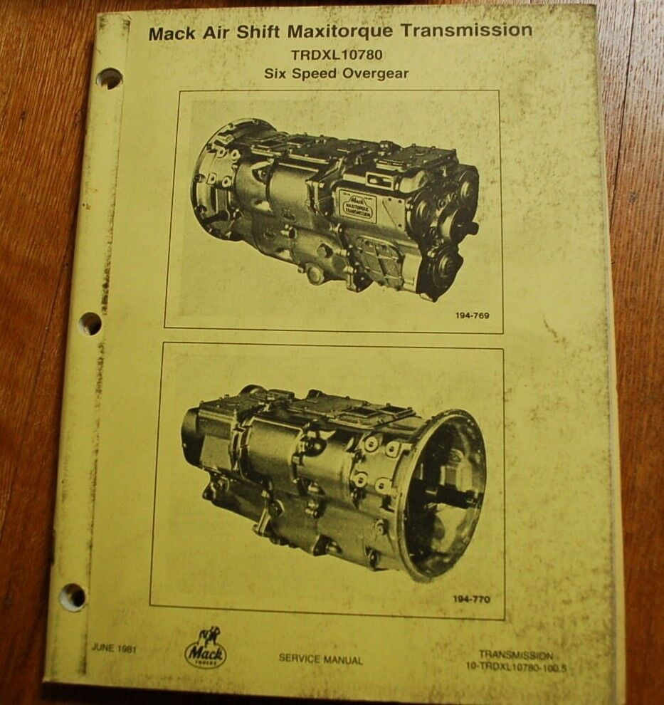 2007 mack Truck Owners manual Mack R Wiring Schematic on