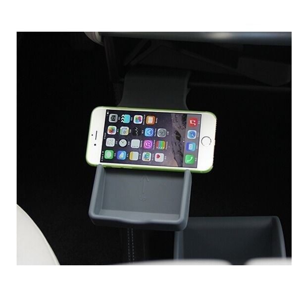 Mobile phone bracket stand holder center console insert for Console mobile