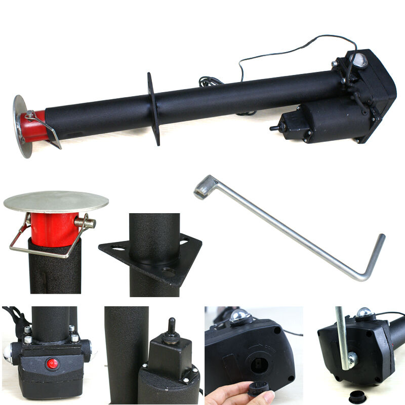 12v 3500 Lbs Electric Power Tongue Jack Rv Utility Boat A