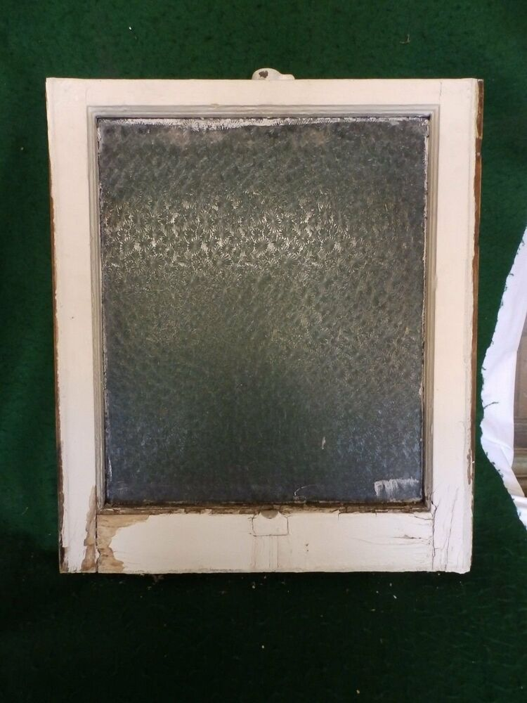 Antique window sash florentine privacy glass 23 x 20 old for 15 window