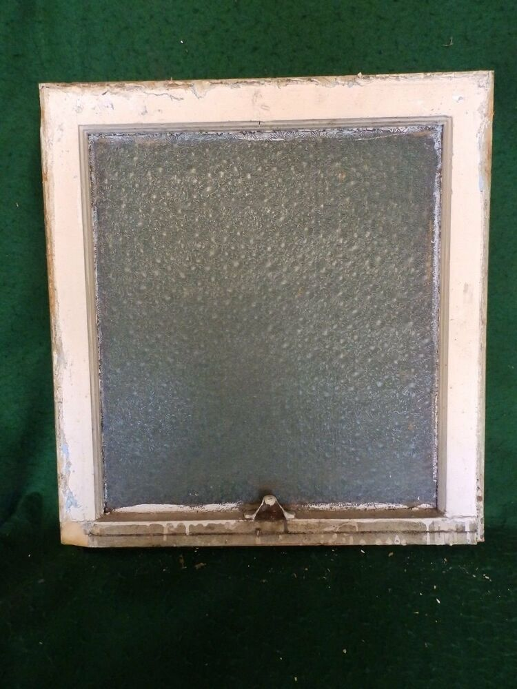 Antique window sash florentine privacy glass 23 x 22 old for 15 window