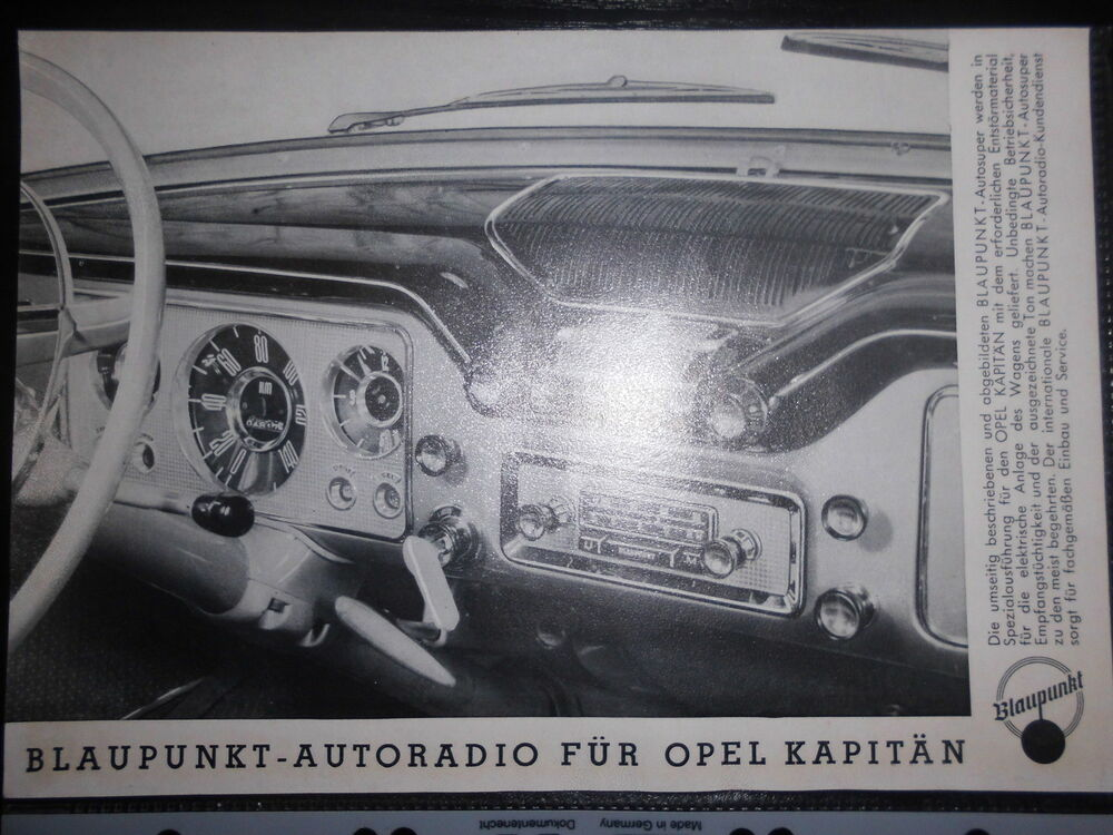 prospektblatt blaupunkt autoradio opel kapit n bremen hamburg stuttgart k ln ebay. Black Bedroom Furniture Sets. Home Design Ideas