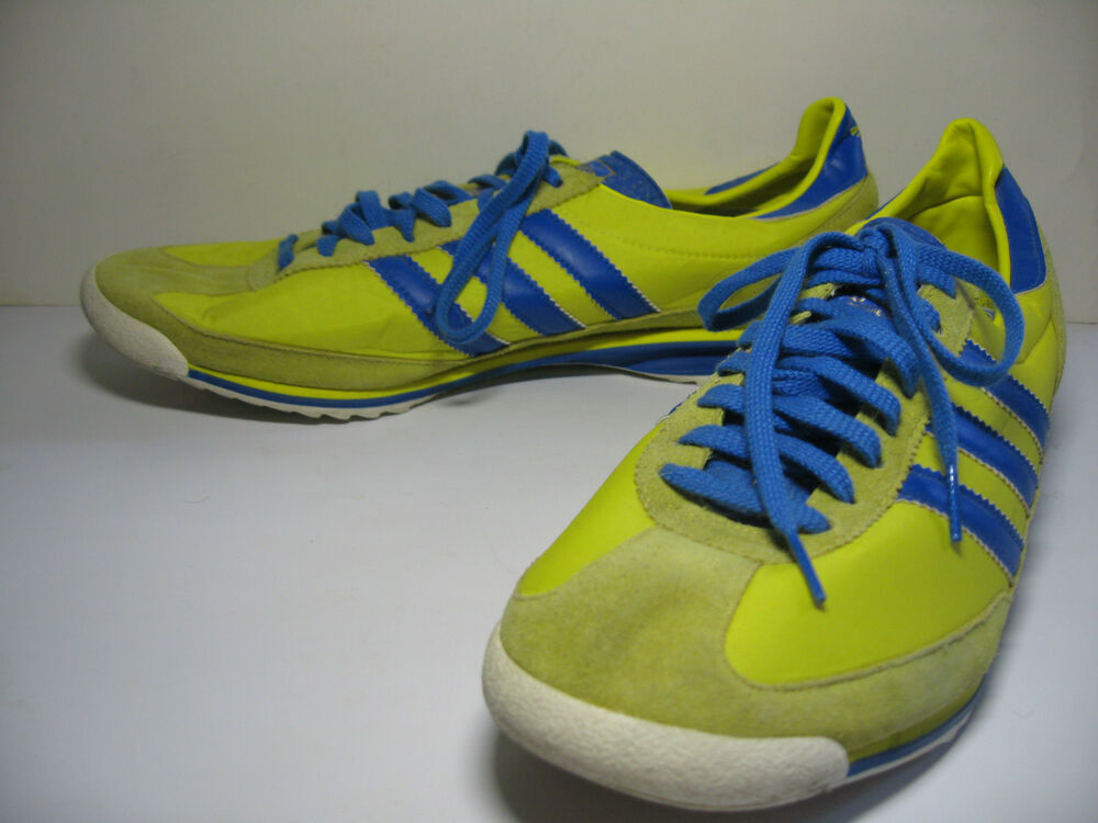 adidas originals sl 72 retro yellow blue training track. Black Bedroom Furniture Sets. Home Design Ideas