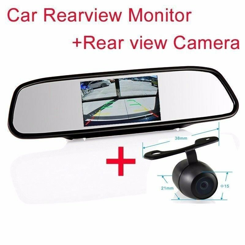 4 3 screen tft best car lcd rear view rearview dvd mirror monitor backup camera ebay. Black Bedroom Furniture Sets. Home Design Ideas