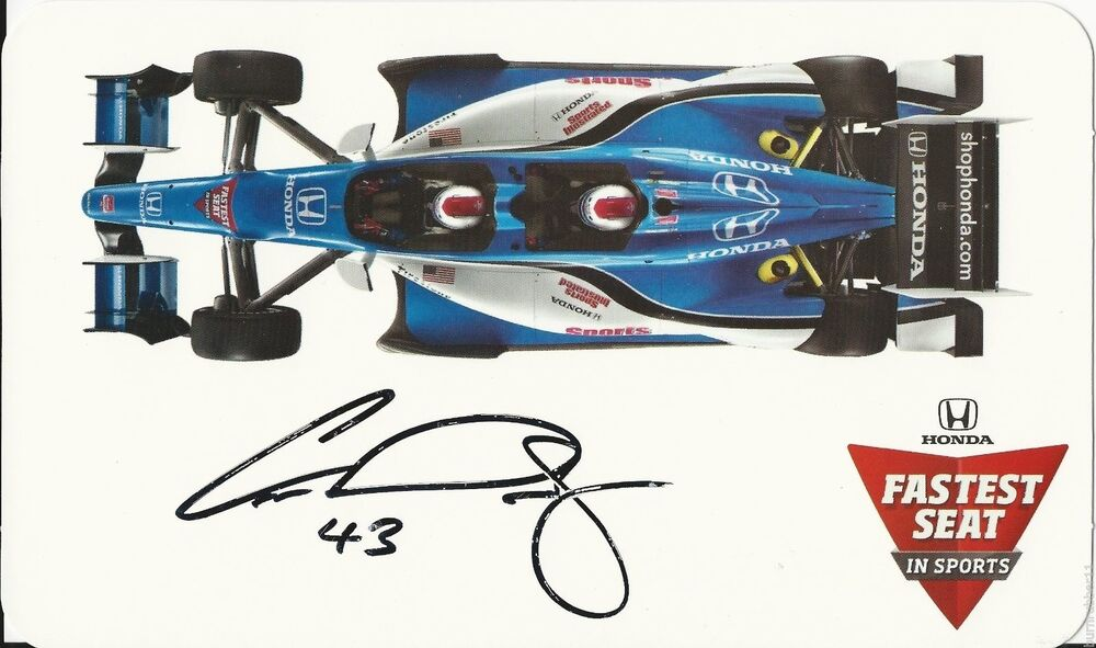 signed 2015 conor daly honda fastest seat in sports indy. Black Bedroom Furniture Sets. Home Design Ideas