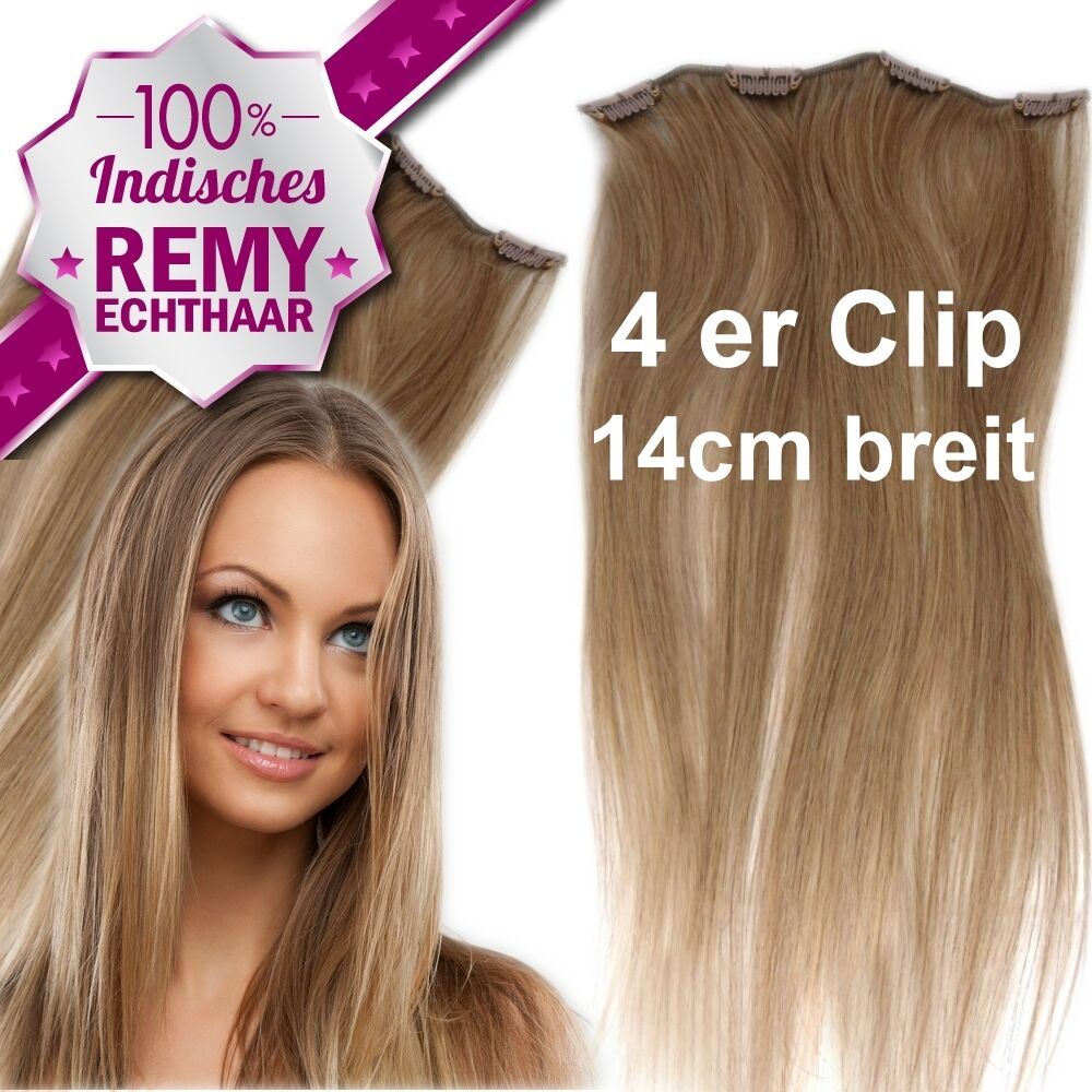 4 clips tresse 14 cm remy echthaar 45 60 cm clip in extensions haarteil 16g 20g ebay. Black Bedroom Furniture Sets. Home Design Ideas