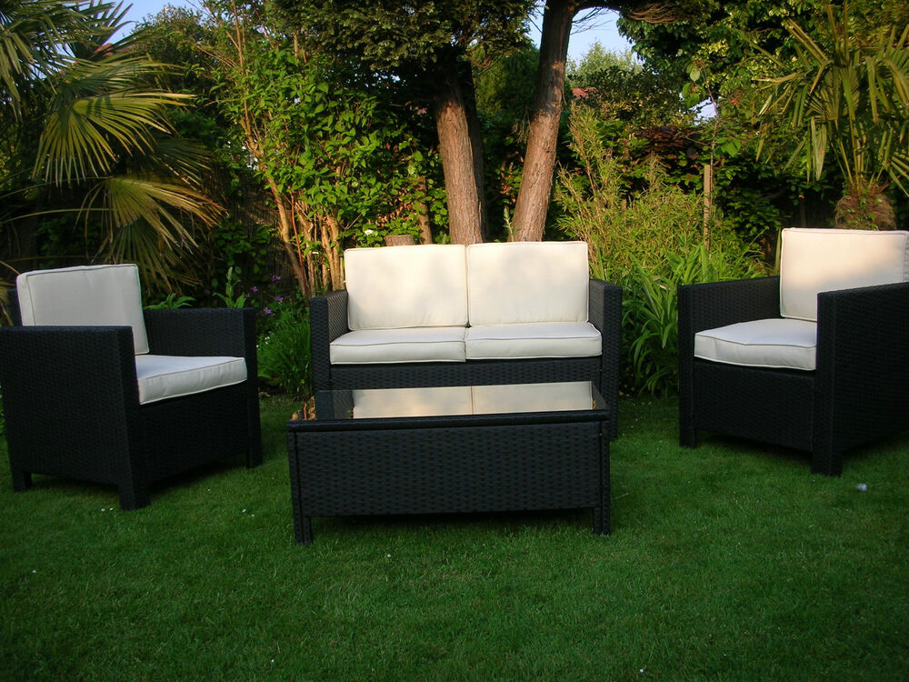 New Rattan Garden Wicker Outdoor Conservatory Furniture