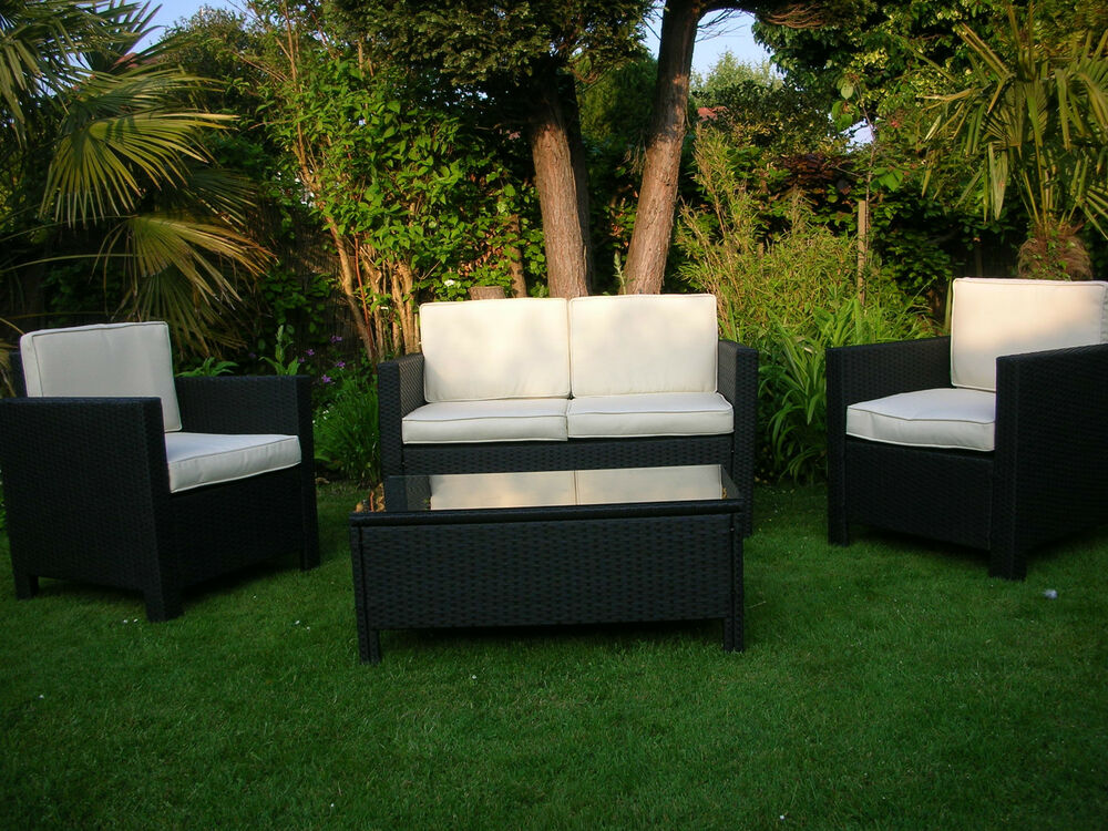 New rattan garden wicker outdoor conservatory furniture table and chairs set ebay - Garden furniture table and chairs ...