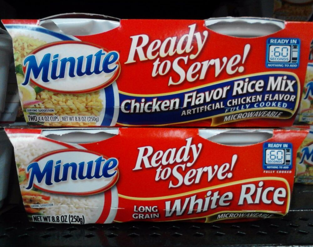 Minute Rice ~ Ready to Serve Microwaveable Rice Cups