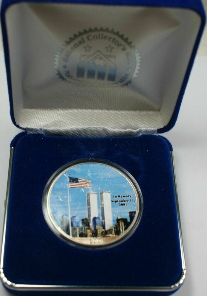 2001 American Silver Eagle Ase 9 11 Double Sided