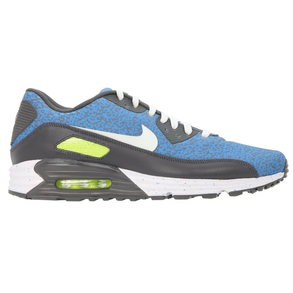 wholesale dealer f231d e35bc NIKE ID AIR MAX 90 EM LUNAR MENS UK SIZE 11 EU 46 BLUE TRAINER SHOES