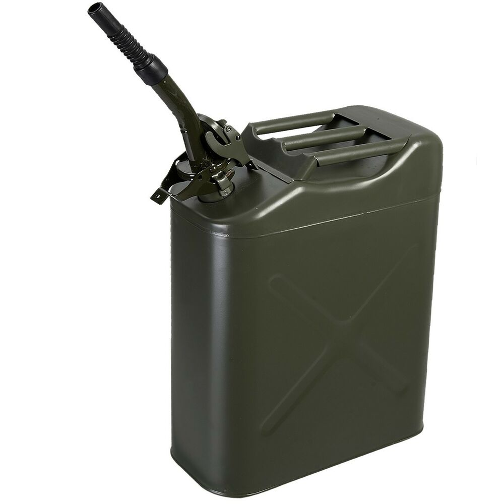 new 20l 5gallon nato style green jerry can oil fuel gas. Black Bedroom Furniture Sets. Home Design Ideas