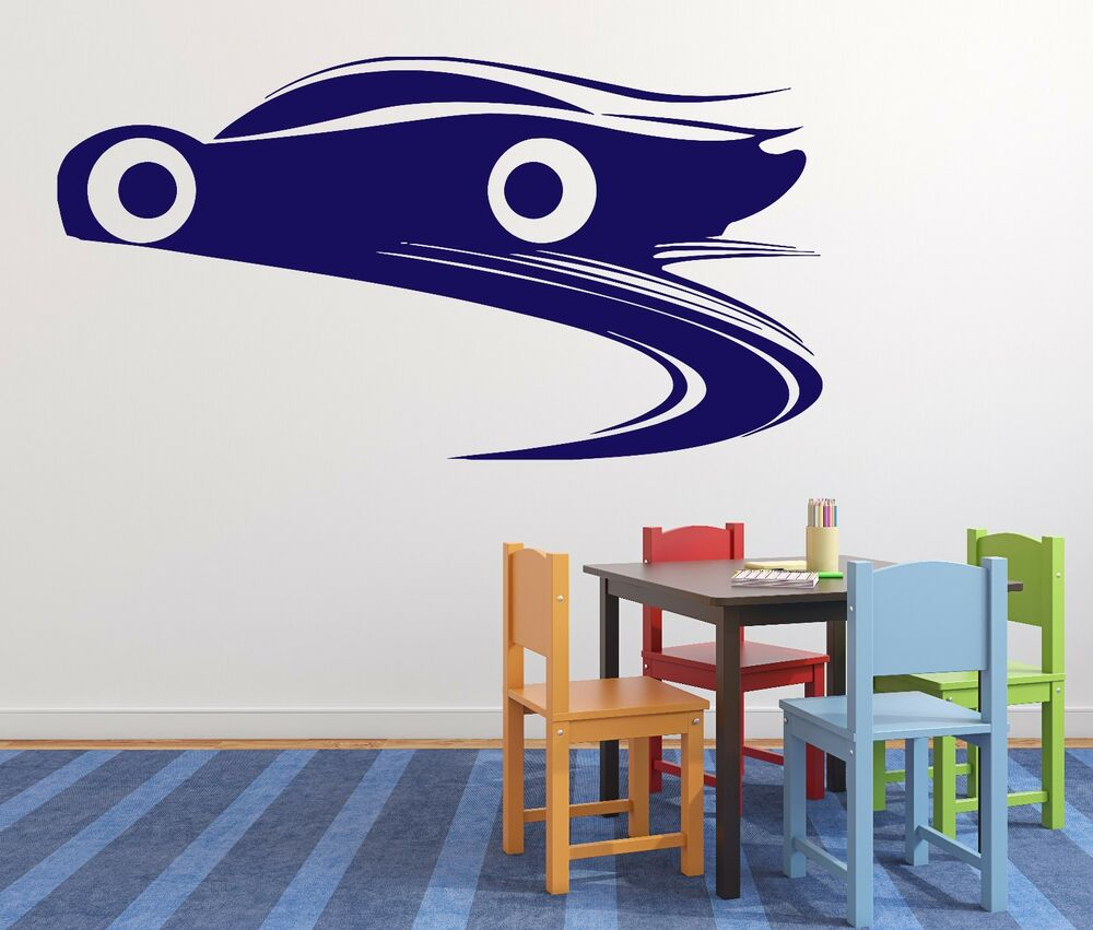Wall stickers vinyl decal racing car brake wheel track for Cars wall mural sticker