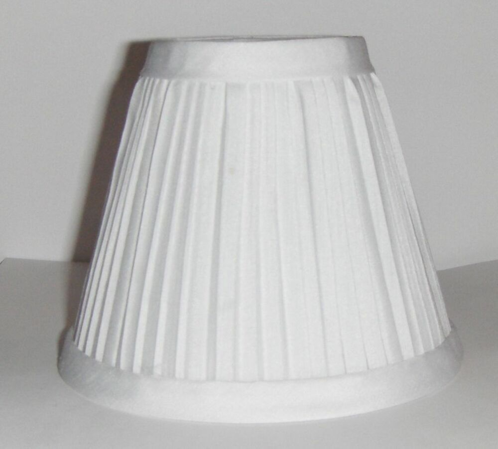 Five 5 New White Pleated Fabric Mini Chandelier Lamp Shade Traditional Whites 82676705922 Ebay