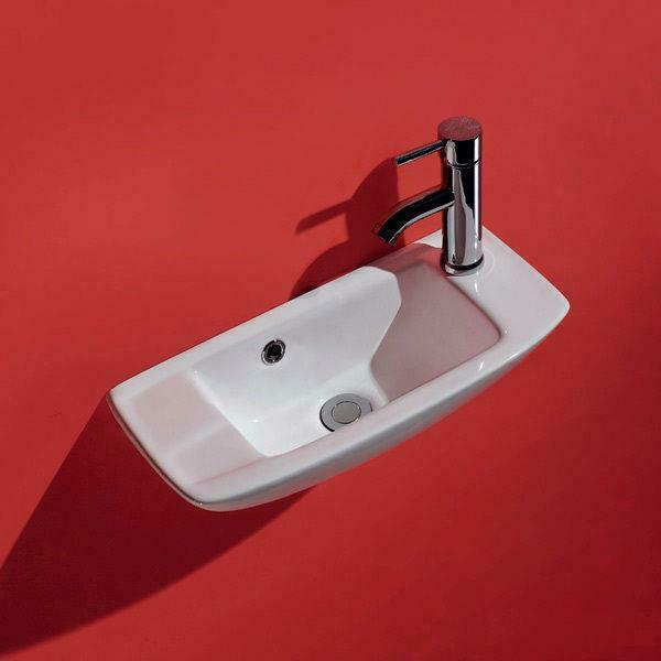 narrow bathroom sink wall hung narrow sink slimline white ceramic space saving 13786