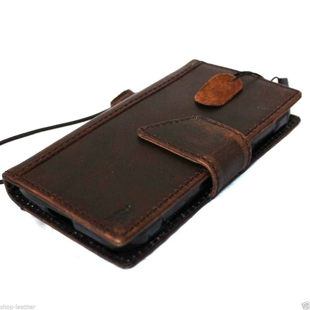 iphone 5 case wallet genuine vintage real leather for iphone 5s 5c se book 14494