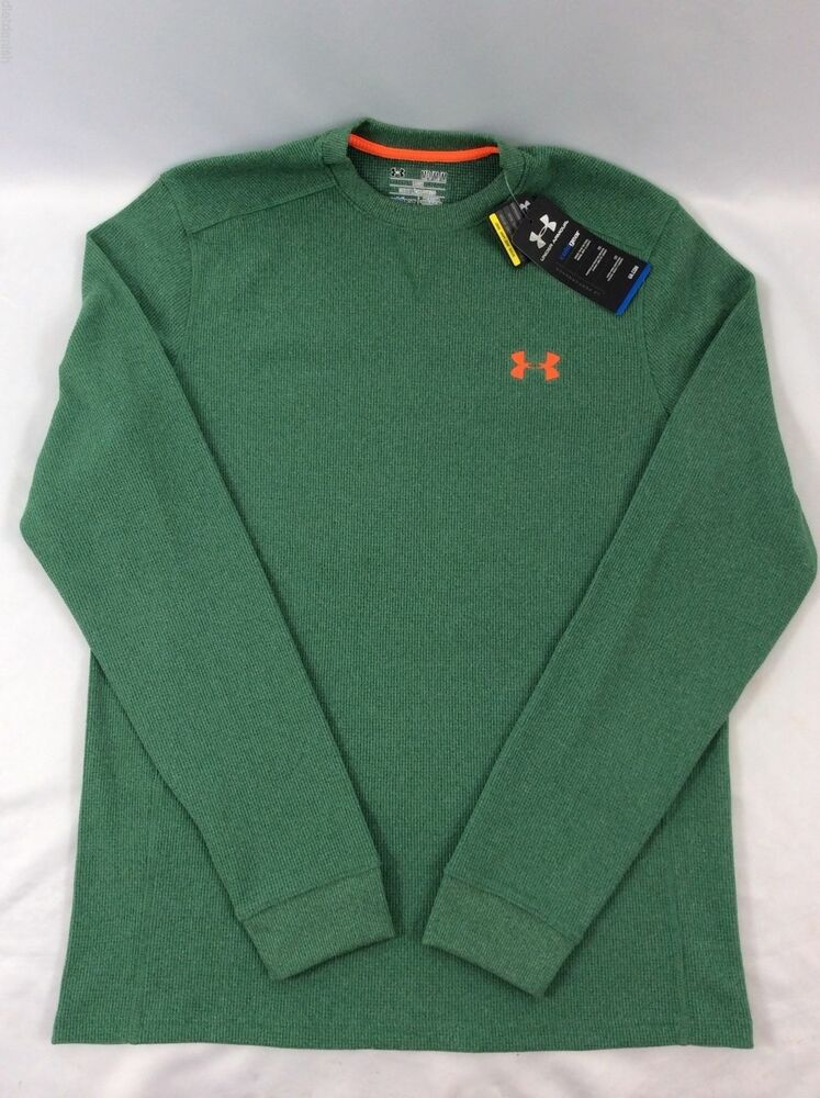 Under Armour Men 39 S Long Sleeve Shirt Loose Cold Gear Green