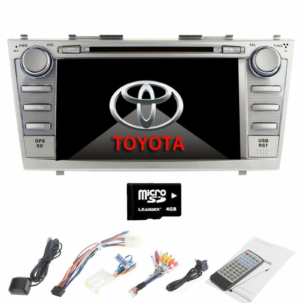 toyota camry 2007 2011 gps navigation 8 car stereo dvd cd player radio. Black Bedroom Furniture Sets. Home Design Ideas