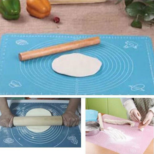 Clay Art Cake Icing Recipe : Silicone Rolling Cut Mat Fondant Clay Pastry Icing Dough ...