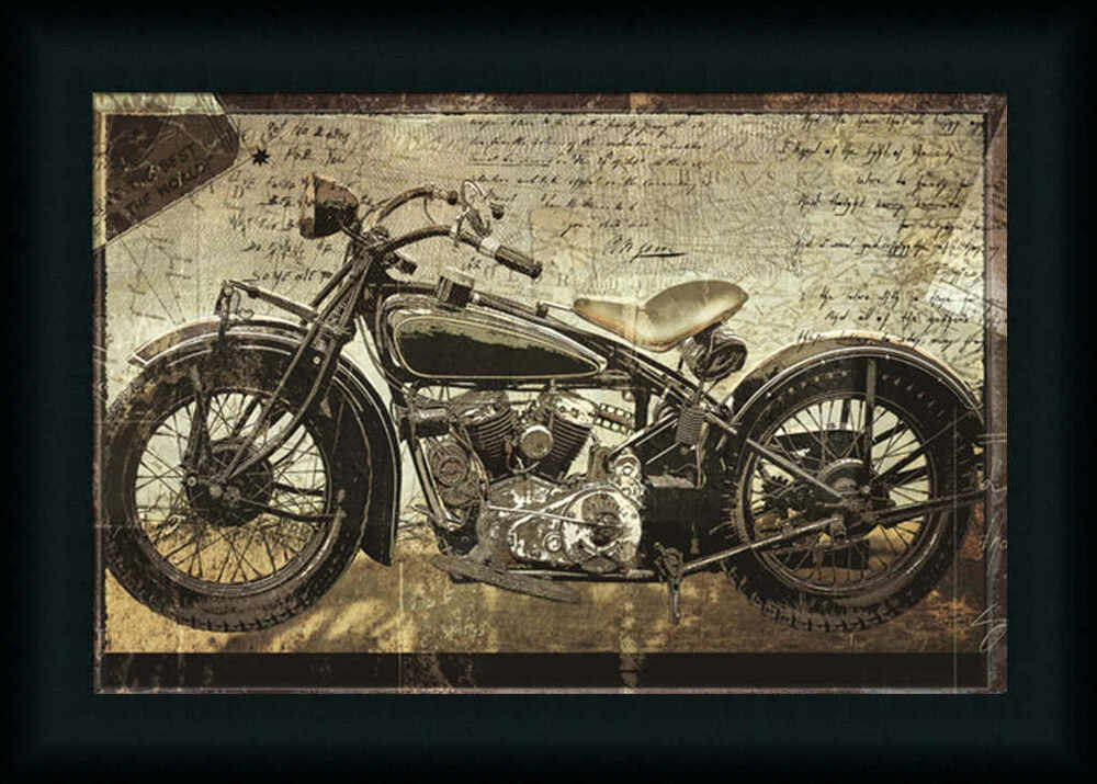 hell on wheels motorcycle photograph framed art print wall d cor picture ebay. Black Bedroom Furniture Sets. Home Design Ideas