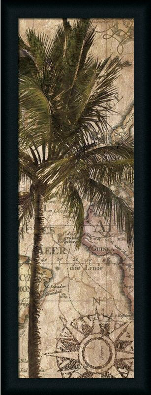 exotic destination i tropical palm tree framed art print wall d cor picture ebay. Black Bedroom Furniture Sets. Home Design Ideas