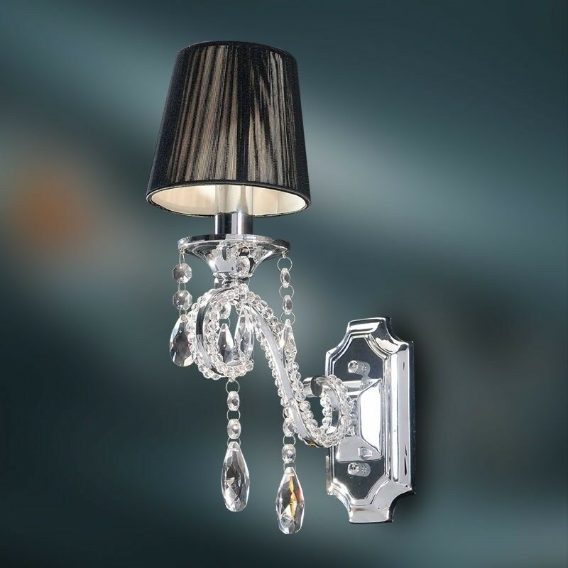 Crystal Wall Lamp - K9 Crystal Chandelier Wall Sconce - Polished Chrome Finish eBay
