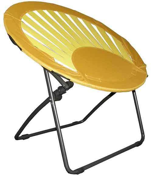 Bungee Chair Furniture Lounge Seating Camping Dorm Folding Round Bungee Chair