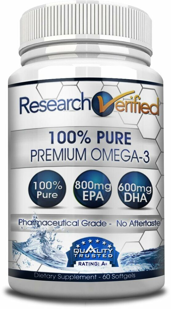 Research verified premium omega 3 fish oil supplement for Omega 3 fish oil weight loss