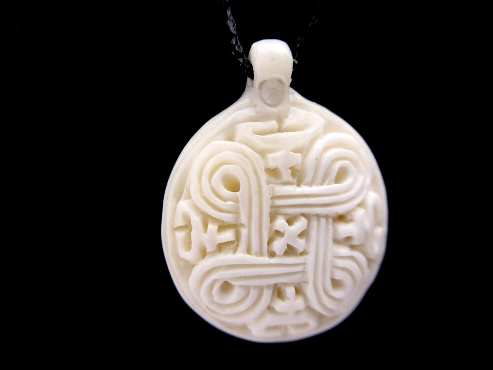 maori carved buffalo bone celtic tibetan infinite