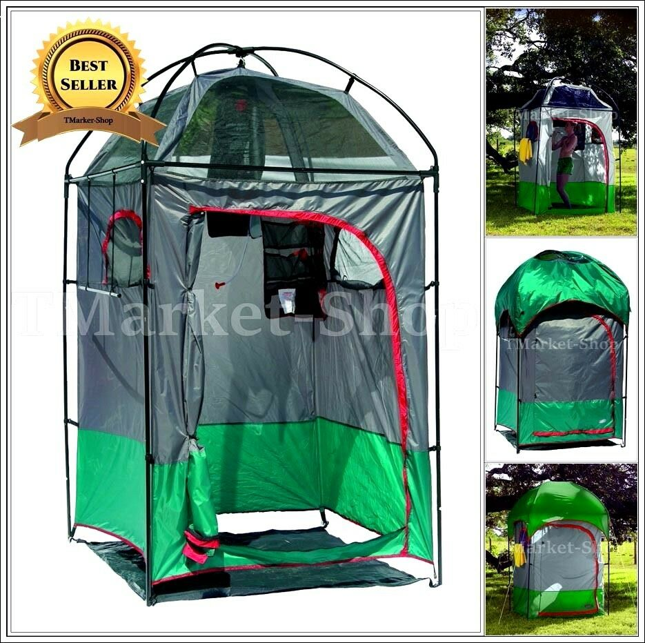 Deluxe portable shower changing shelter tent camping for Portable garden room