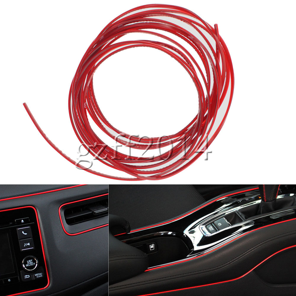 universal car interior exterior red molding trim trip line 5m ebay. Black Bedroom Furniture Sets. Home Design Ideas