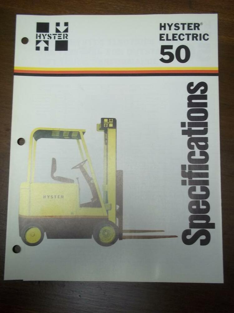 Hyster S60es manual on