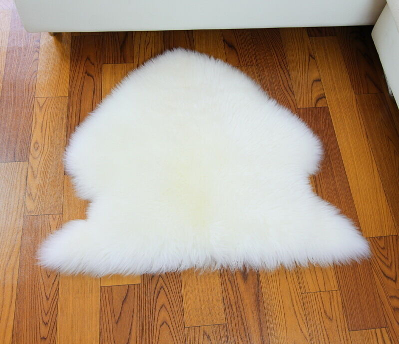 Genuine Sheepskin Long Wool Fur Rug Carpet Mat 10 Colors