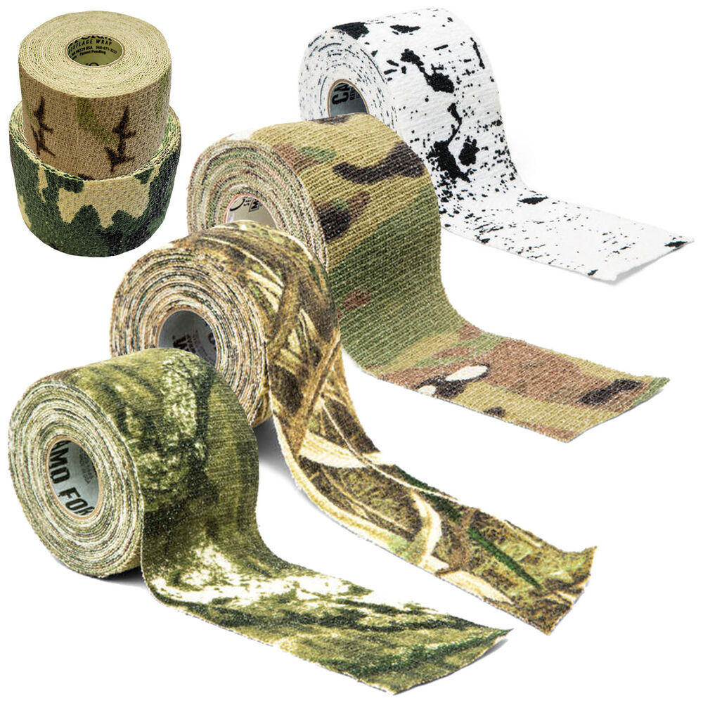 Details about McNett Camo Form Reusable Self Cling Camo Hunting Rifle Gun  Fabric Tape Wrap a00cd09ca