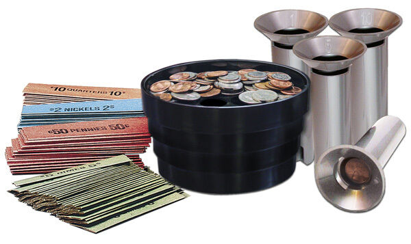 Coin sorter kit bank money change tubes roll wrap pennies quarters nickels dimes ebay - Sorting coin bank ...
